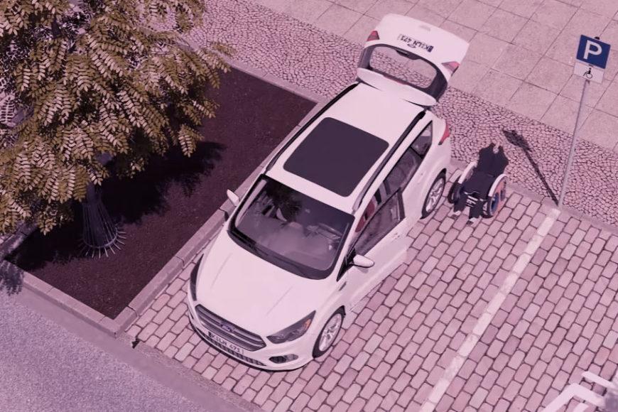 Ford cria cadeira de rodas que entra e sai sozinha do carro