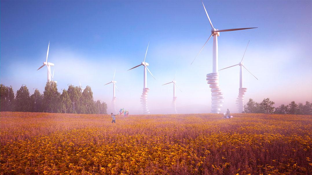 Alemão cria projeto de moradias em turbinas eólicas