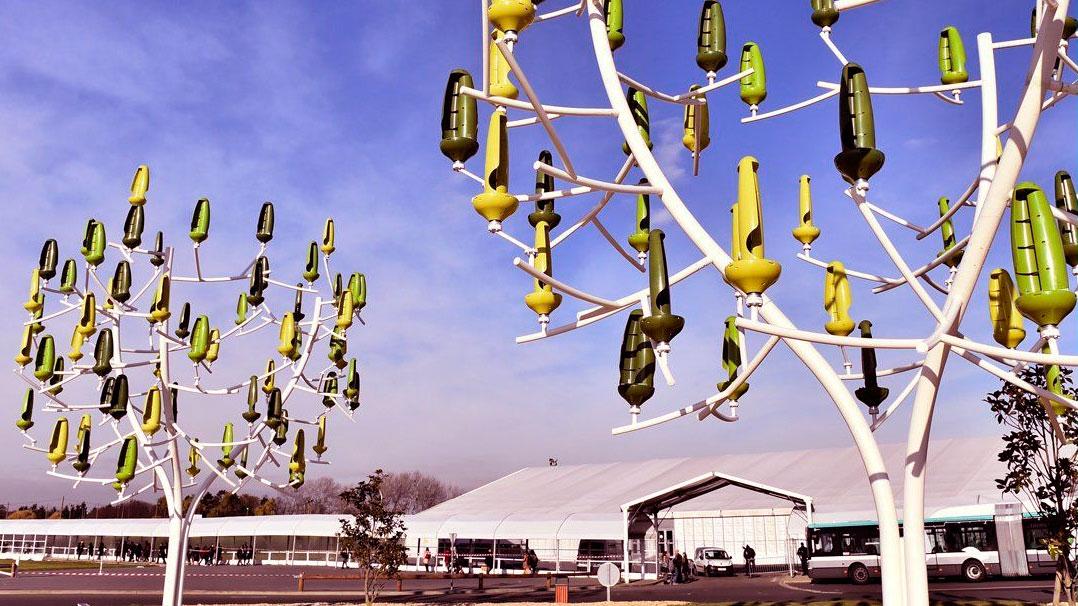 Conheça a árvore que produz energia eólica