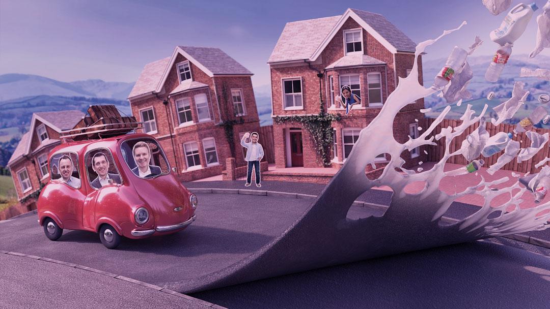 Empresa inglesa cria asfalto feito com plástico reciclado