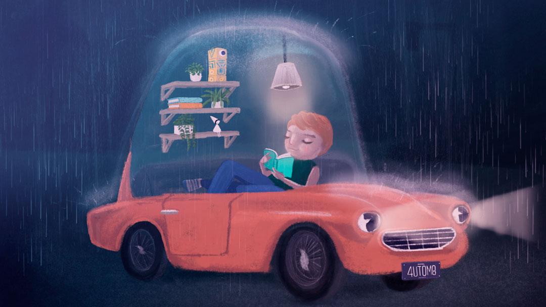 Ilustradores imaginam como serão os carros autônomos