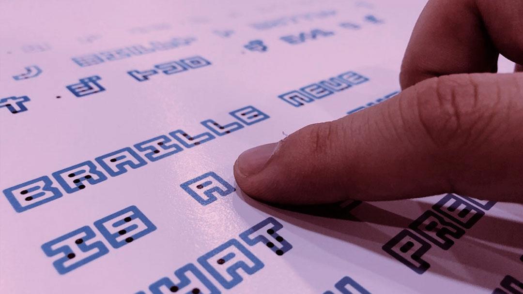 Braille Neue: Uma fonte universal que une o Braille a caracteres visuais