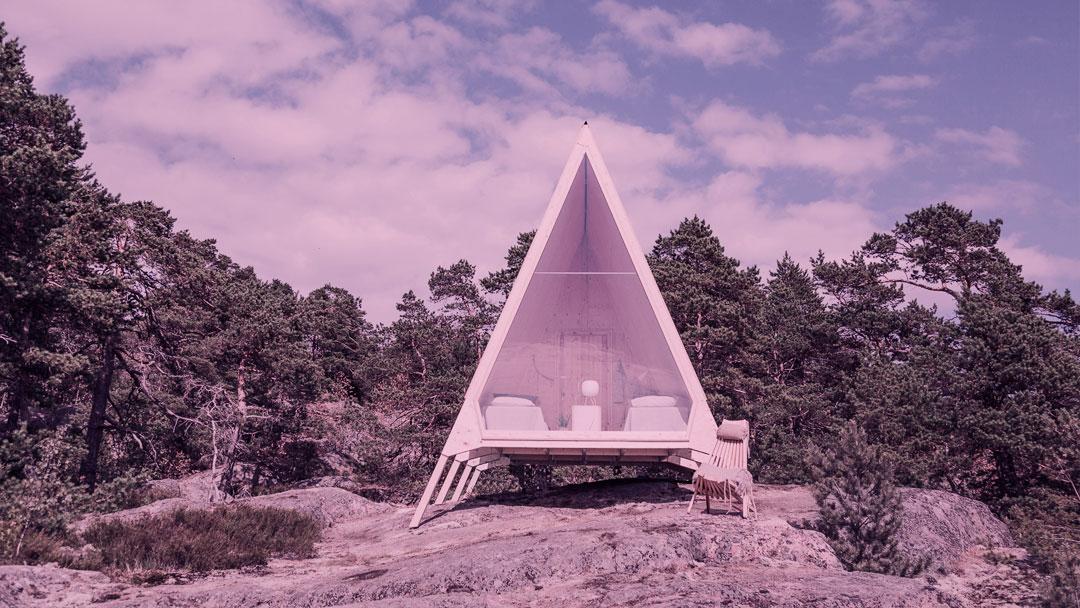 Nolla: Uma cabana com impacto ambiental mínimo abre suas portas na Finlândia