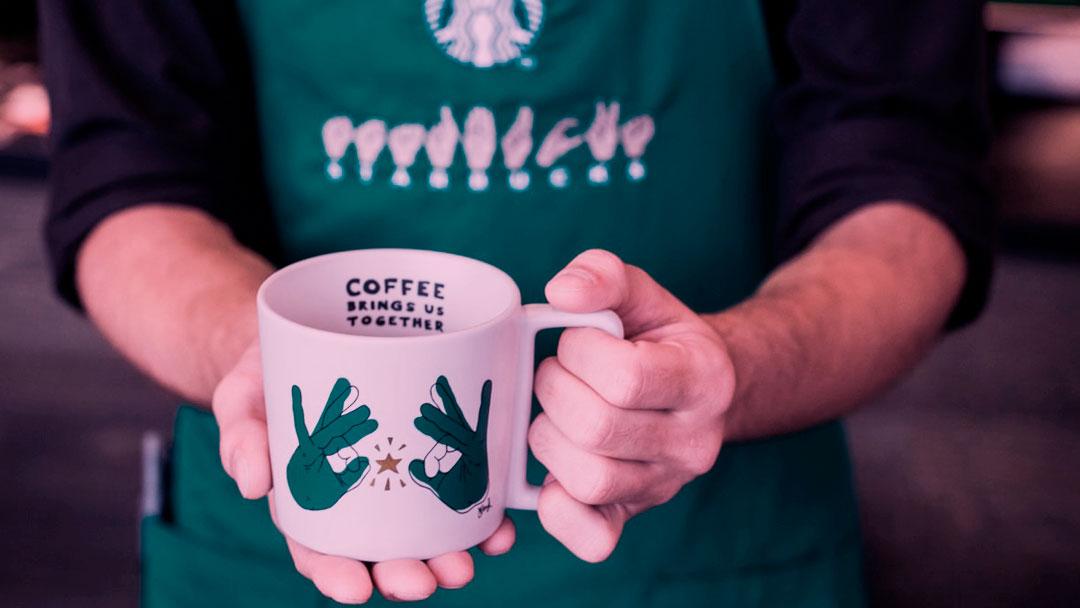Starbucks inaugura sua primeira loja para surdos e deficientes auditivos nos EUA