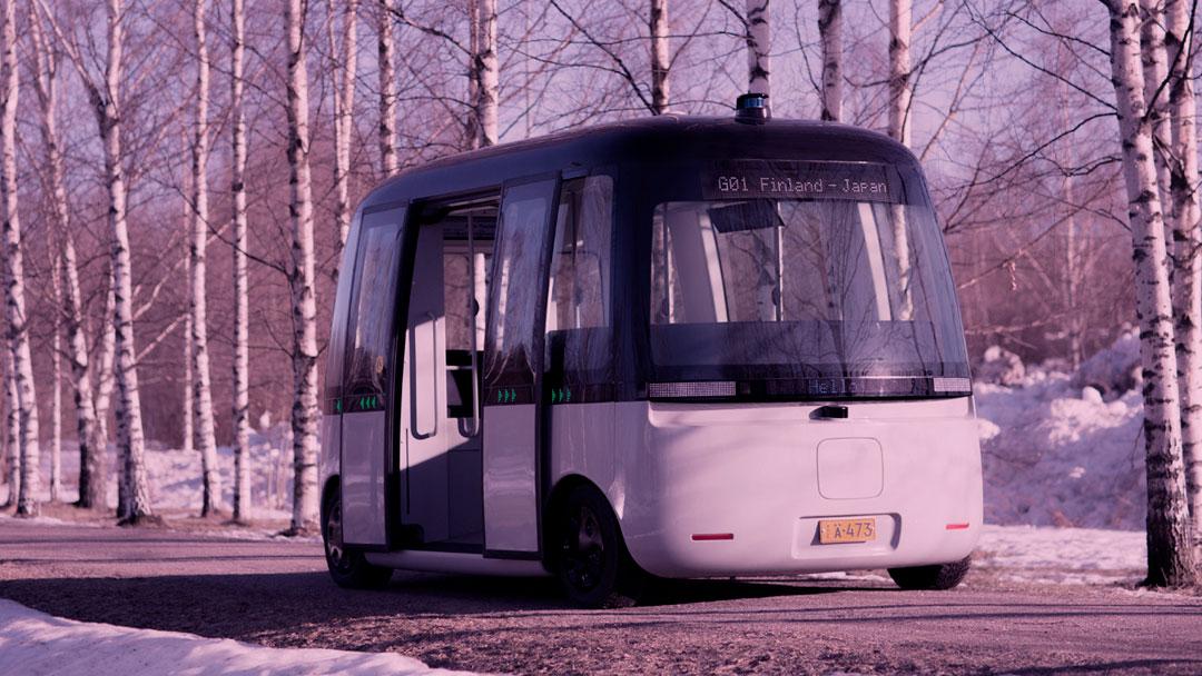 Este é o primeiro micro-ônibus autônomo que irá operar em condições climáticas extremas
