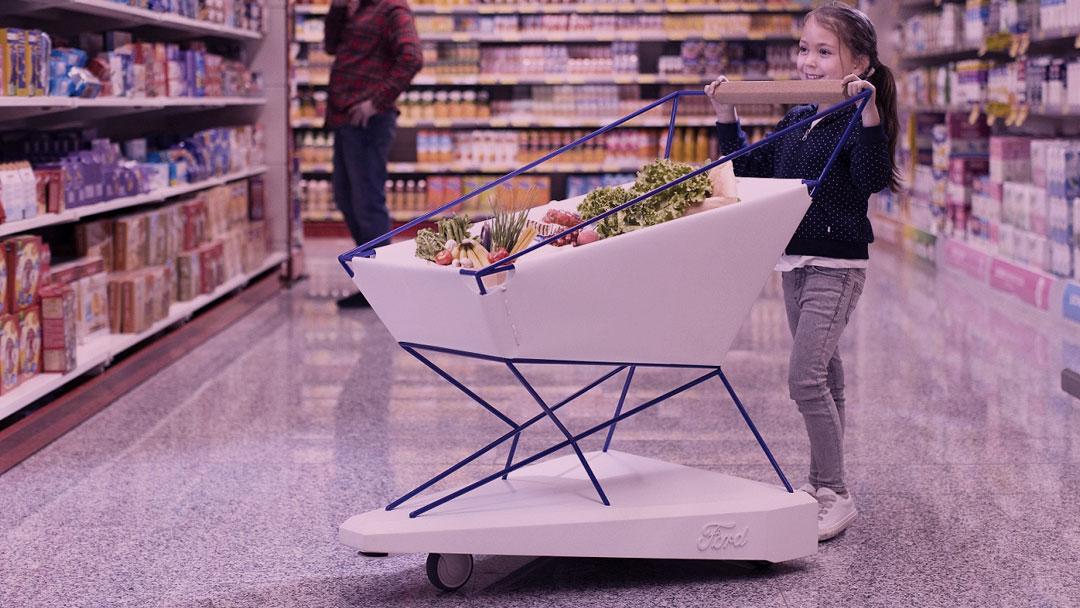 """""""IoT desconectadas"""": Ford cria carrinho de supermercado que freia automaticamente"""