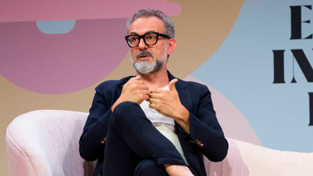 Chef Massimo Bottura no Fast Company European Innovation Festival | Foto: Celine Grouard