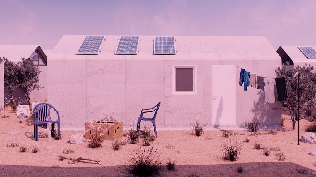 Cortex Shelter: Uma solução de habitação de longo prazo para campos de refugiados