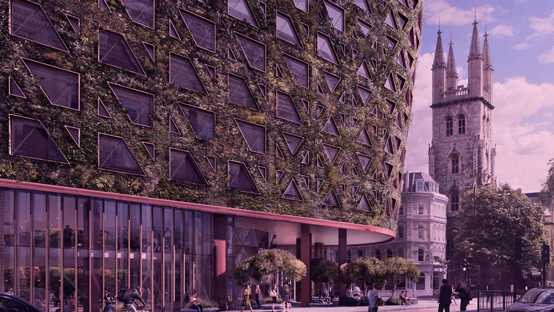 Citicape House: Maior parede verde da Europa irá absorver oito toneladas de poluição anualmente