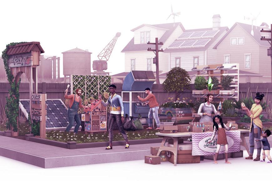 The Sims 4 Vida Sustentável: Cultura maker, consumo consciente e energia limpa