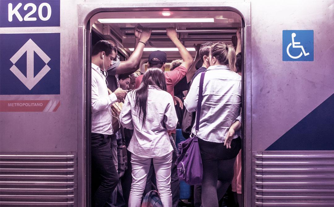 O distanciamento social no transporte público é impossível