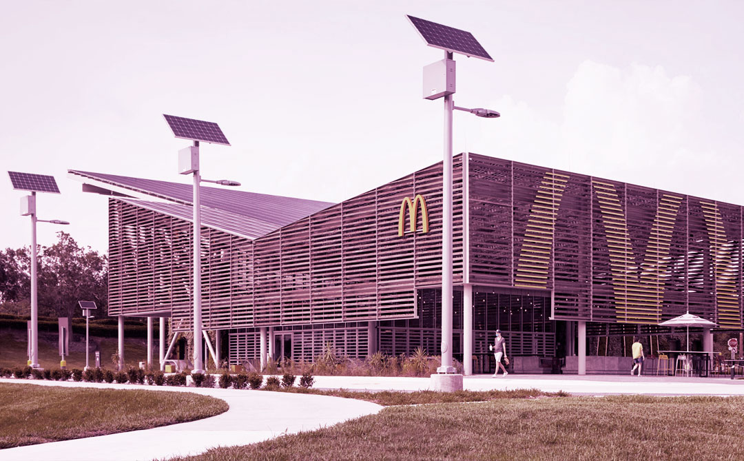 Novo restaurante do McDonald's é totalmente movido a energia solar