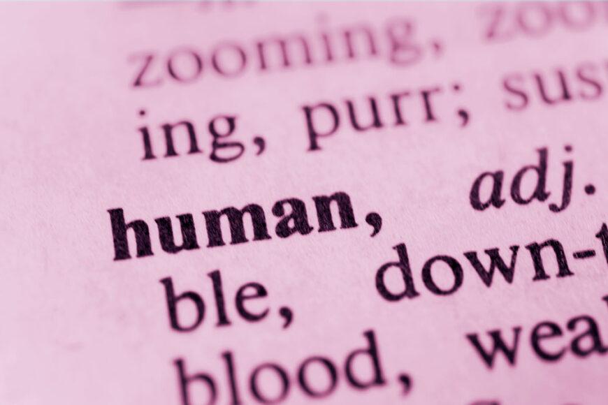 A arte de ser humano