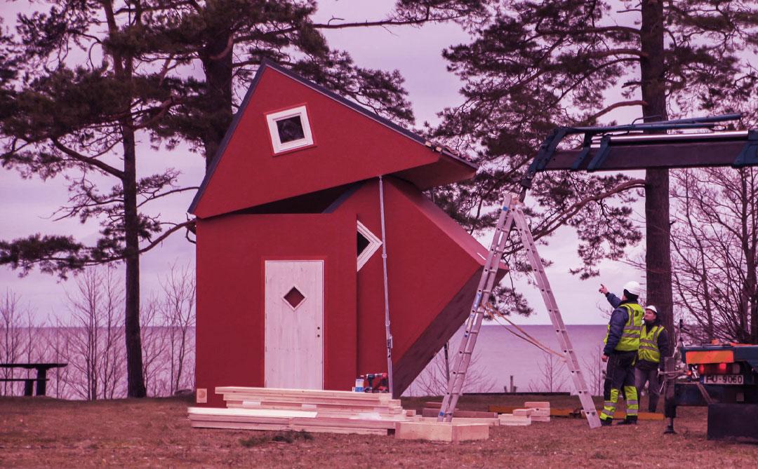 """Brette 20: Uma pequena casa pré-fabricada que """"se desdobra"""" em 3 horas"""