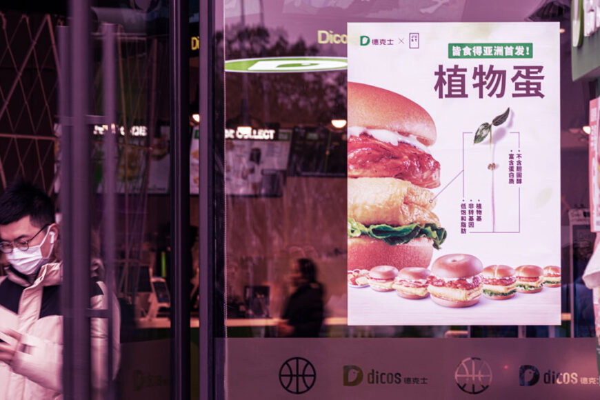 Rede de fast food chinesa troca ovos do cardápio por opção plant-based