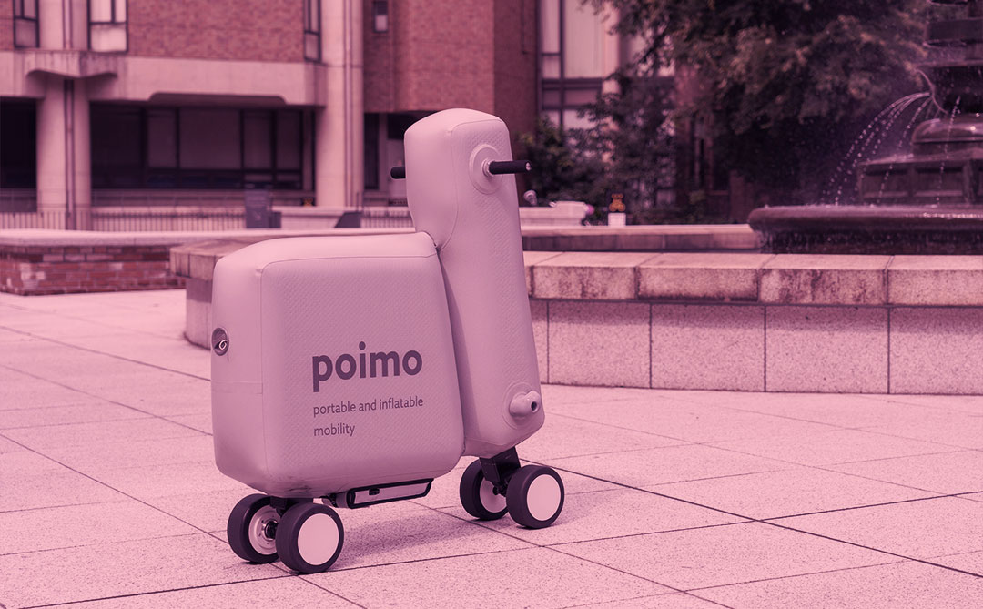 Conheça Poimo, uma scooter elétrica, portátil e inflável