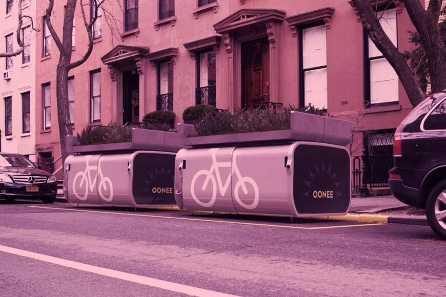 Oonee Mini: Um estacionamento para 10 bikes em uma vaga de carro