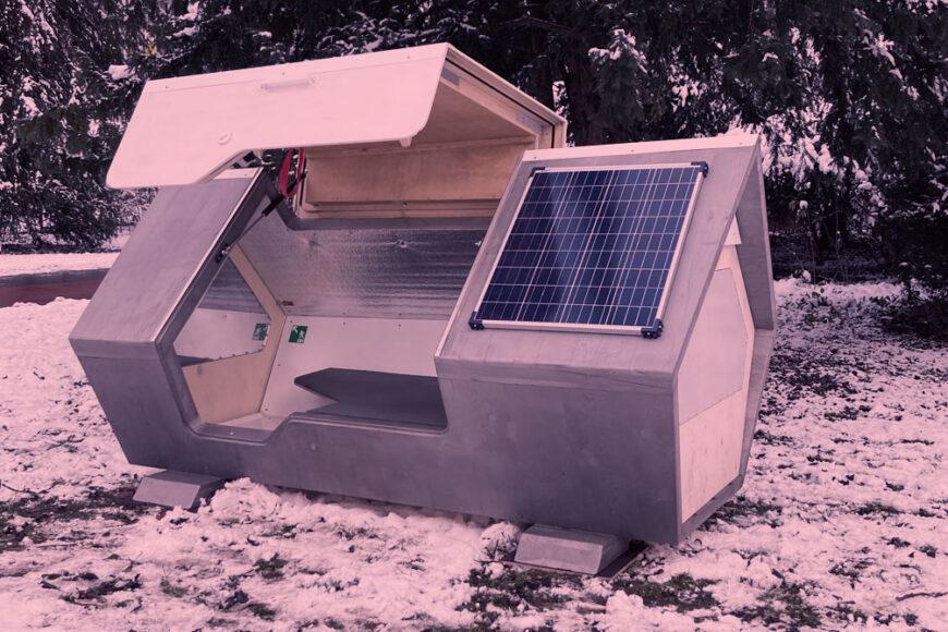 Ulmer Nest: O abrigo com energia solar e proteção contra o frio no inverno alemão