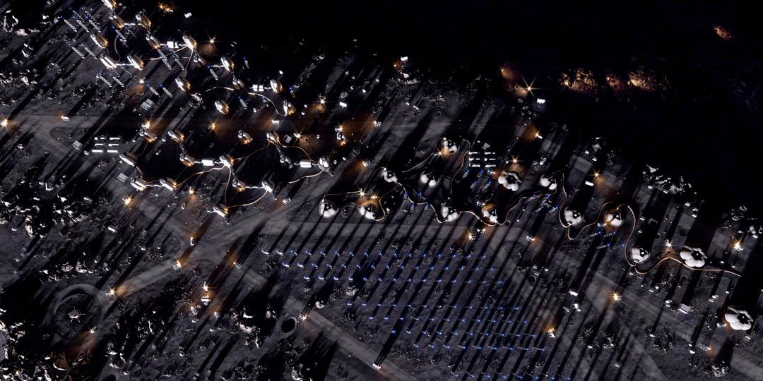 Moon Village: Uma moradia lunar feita de módulos infláveis