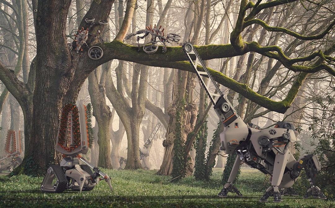 Forest Ranger Druids: Robôs para atuar no reflorestamento