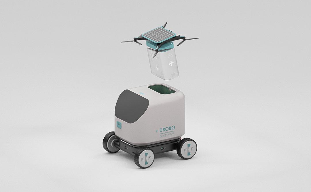 Drobo: Um robô movido a energia solar que entrega suprimentos médicos