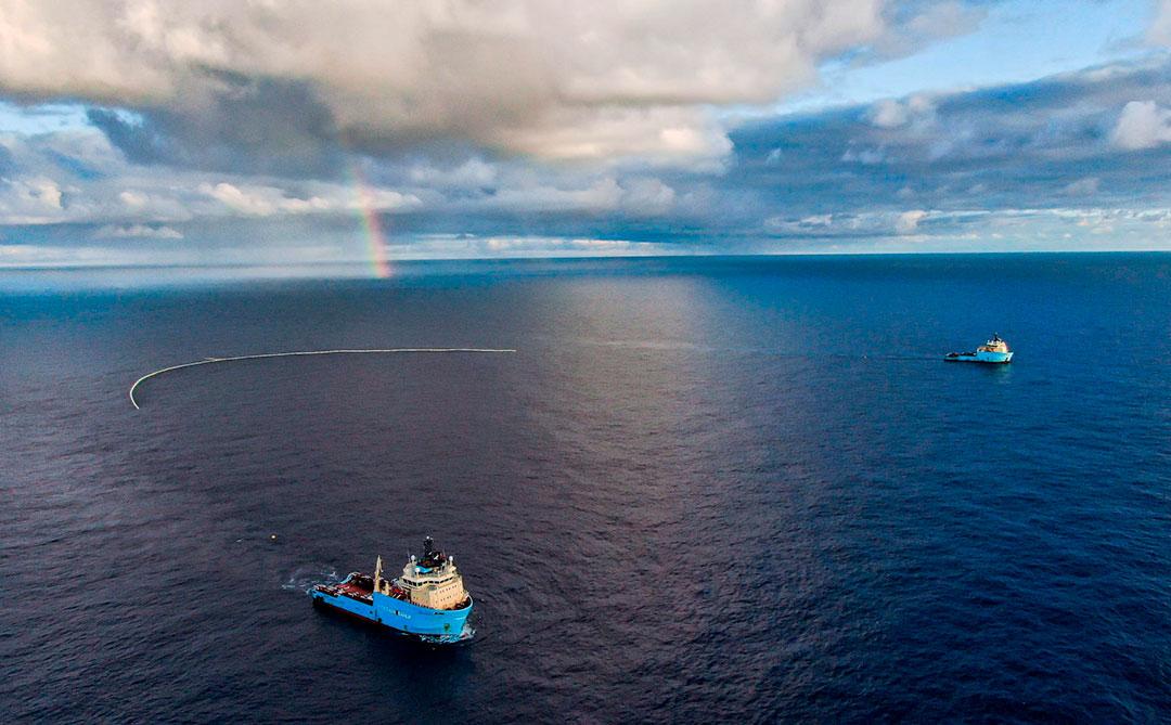 Ocean Cleanup conclui com sucesso testes de seu novo sistema de limpeza dos oceanos